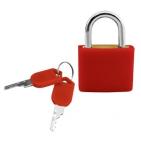 Замок багажный; красный; 2,2х3,2х1 см; пластик, металл; тампопечать
