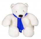Игрушка «Белый медведь», с синим шарфом