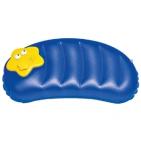 Подушка надувная с FM-радио; синий с желтым; 44х20х24 см; пластик; тампопечать