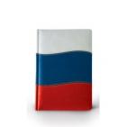 Ежедневник полудатированный Российский флаг (Россия-2), А5+, бежевый блок, золотой обрез, два ляссе