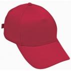 """Бейсболка """"Стандарт"""", 5 клиньев, металлическая застежка; красный; 100% хлопок; плотность 180 г/м2"""