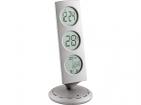 Погодная станция: часы с «мировым временем», термометр, календарь. Прибор позволяет узнавать время в 12 городах земного шара - достаточно повернуть основание