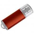 "USB flash-карта ""Assorti"" (8Гб),красная,5,5х1,7х0,6см,металл"