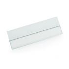 Бейдж; серебристый; 7х2,5х0,4 см; алюминий; тампопечать, лазерная гравировка