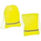 """Рюкзак """"Safety"""" со светоотражающей полосой; флуоресцентный желтый; 34х42 см; полиэстер 210D"""