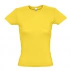 "Футболка ""Miss"", солнечно-желтый_XL, 100% х/б, 150 г/м2"