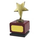 """Стела """"Звезда""""; бронзовый; 9х9х17,5 см; дерево, металл; лазерная гравировка"""