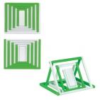 "Антистресс-трансформер ""Mister Twister"",зеленый с белым,7,8х6,5х0,6см,пластик"