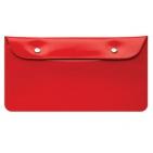 """Бумажник дорожный  """"HAPPY TRAVEL"""", красный, 23.5*12.5 см, ПВХ,  тампопечать, шелкография"""