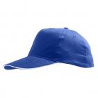 "Бейсболка ""Sunny"" 5 клиньев, ярко-синий с белым, 100% хлопок, 180г/м2"