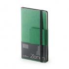Еженедельник недатированный Zenith, B7, зеленый, бежевый блок, без обреза, ляссе