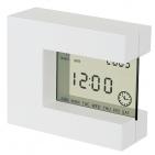 """Часы настольные """"Перевертыш"""" с календарем, будильником, таймером и термометром; 11х9,5х4см; пластик;"""