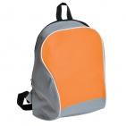 "Промо-рюкзак ""Fun""; серый с бледно-оранжевым; 30х38х14 см; полиэстер; шелкография"