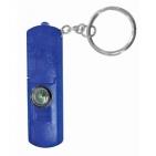 Брелок-фонарик со свистком и компасом; синий; 6,3х2,1х0,8 см; пластик; тампопечать