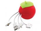 USB-переходник для мобильных телефонов «Яблоко» с разъемами: микро-USB, мини-USB, iPhone 4/4S