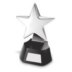 "Стела ""Звезда""; 10х7х18 см; пластик, металл; лазерная гравировка"