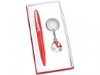 Набор: шариковая ручка, брелок с шильдом «Домик»