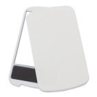 "Зеркало с пилкой для ногтей ""Визаж""; белый; 9,4х5,4х0,8 см; пластик; тампопечать"