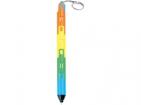 Ручка-трансформер. Складывается в брелок-фонарик с тремя режимами подсветки: светодиодный фонарик, ультрафиолетовый фонарик, фонарик с мигающей разноцветной подсветкой 7 цветов)