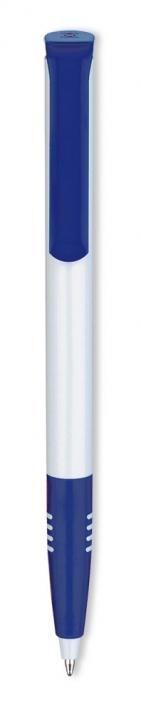 Ручка шариковая Super Soft, белая с синим