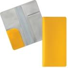 """Бумажник путешественника """"HAPPY TRAVEL"""", желтый,  ПВХ, 10*22 см, тампопечать, шелкография"""