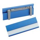 Бейдж; синий; 7х2,5х0,4 см; алюминий; тампопечать, лазерная гравировка