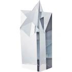 """Кристалл """"Звезда""""; прозрачный; 9х5,8х17,8 см; стекло; лазерная гравировка"""