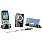 Набор настольный: часы, подставки для  визиток и для мобильного телефона и нож для вскрытия корреспо