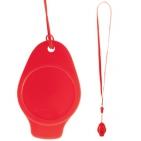 Свисток,красный,3,5х5,5см,пластик