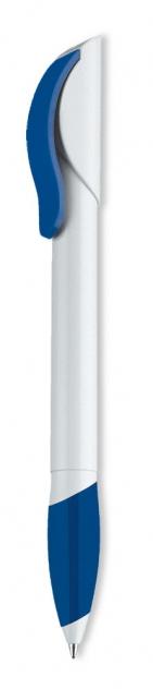 Ручка шариковая Hattrix Soft, белая с синим