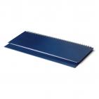 Планинг датированный, Бумвинил, синий, 295х100 мм, белый блок, открытый гребень