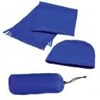 """Флисовый набор """"Winter"""" шапка и шарф в чехле, синий, флис, 180 гр/м2"""