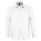 "Рубашка ""Brighton"", белый_S, 97% хлопок, 3% эластан, 140г/м2"