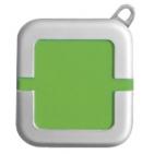 Зажигалка; зеленый; 4х4,4х1,1 см; металл, пластик