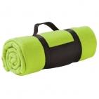 """Плед """"Color""""; ярко-зеленый; 130х150 см; флис 220 гр/м2; шелкография, вышивка"""