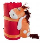 Игрушка «Конь» с красным пледом