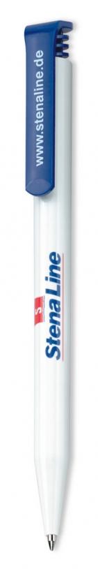 Ручка шариковая Super Hit, белая с темно-синим
