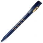 KIKI FROST GOLD, ручка шариковая, синий/золотистый, пластик
