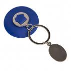Брелок HALMAN, 11,5х5 см, синий , металл, силикон
