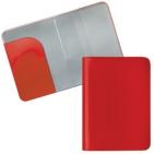 """Обложка для паспорта """"HAPPY TRAVEL"""", красный, ПВХ, 10*14 см, тампопечать, шелкография"""