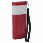 Фонарь с двумя режимами подсветки (2*3 LED); красный; 12,1x4,8x2 см; пластик; тампопечать