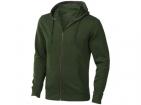 """Свитер """"Arora"""" с капюшоном на молнии мужской, армейский зеленый"""