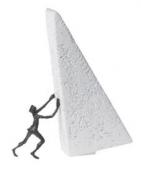 Скульптура «Сдвину горы»