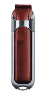Флешка Leather, коричневая, 4 Гб