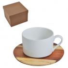 """Чайная пара """"Helga"""" в подарочной упаковке, 210мл, фарфор, дерево"""