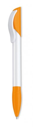 Ручка шариковая Hattrix Basic, белая с оранжевым