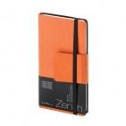 Еженедельник недатированный Zenith, B7, оранжевый, бежевый блок, без обреза, ляссе