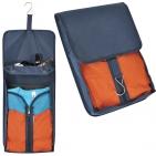 Органайзер дорожный для одежды с отделением для мелочей; темно-синий; 25,5х60 см; полиэстер