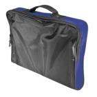 """Конференц-сумка """"Folder""""; черный с синим; 39,5х30х5 см; полиэстер; шелкография"""