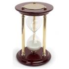 Часы песочные на 15 минут; D=12 см; H=19 см; металл, дерево; шильд